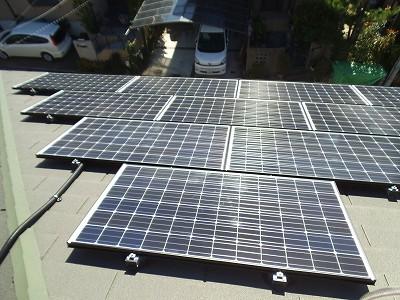 太陽光発電システム設置工事|八幡市他