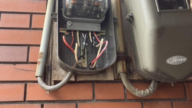 寝屋川市のメーター板取替工事
