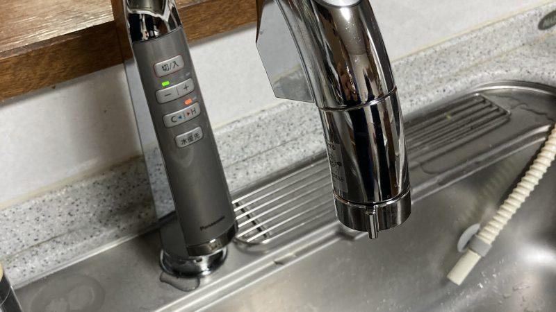 枚方市の台所水栓取替工事 タッチレス水栓