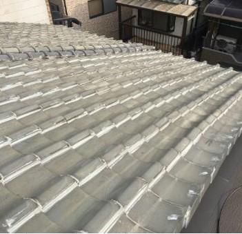 雨漏りでお困りでした 瓦をスレート屋根に取替工事 寝屋川市